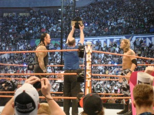 Undertaker v. Edge at WrestleMania 24.