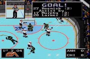 NHL '94 on the SEGA Genesis.